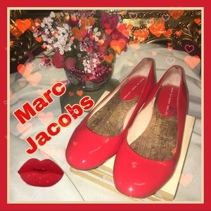 Marc marc Jacobs red patent leather vintage flats